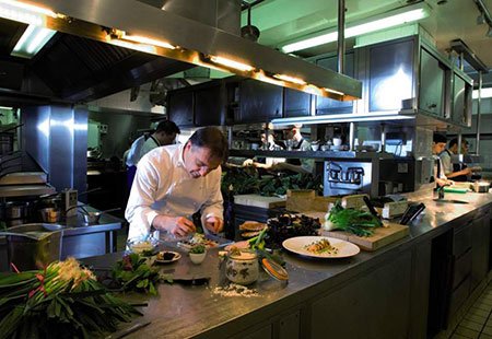 Raymond Blanc weaving his culinary magic