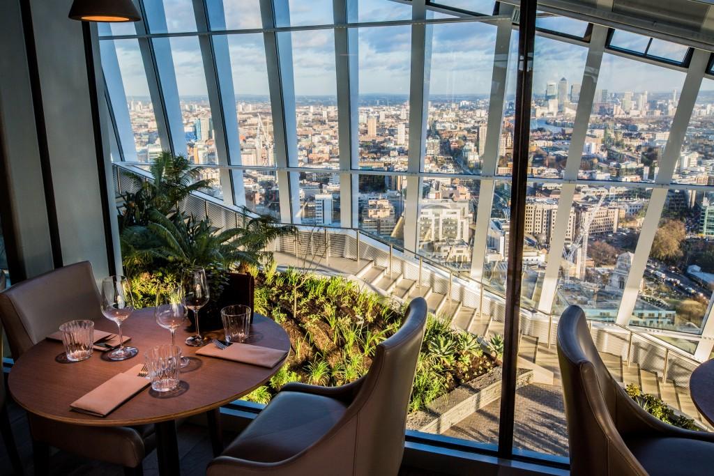 London View: Darwin Brasserie at Sky Garden