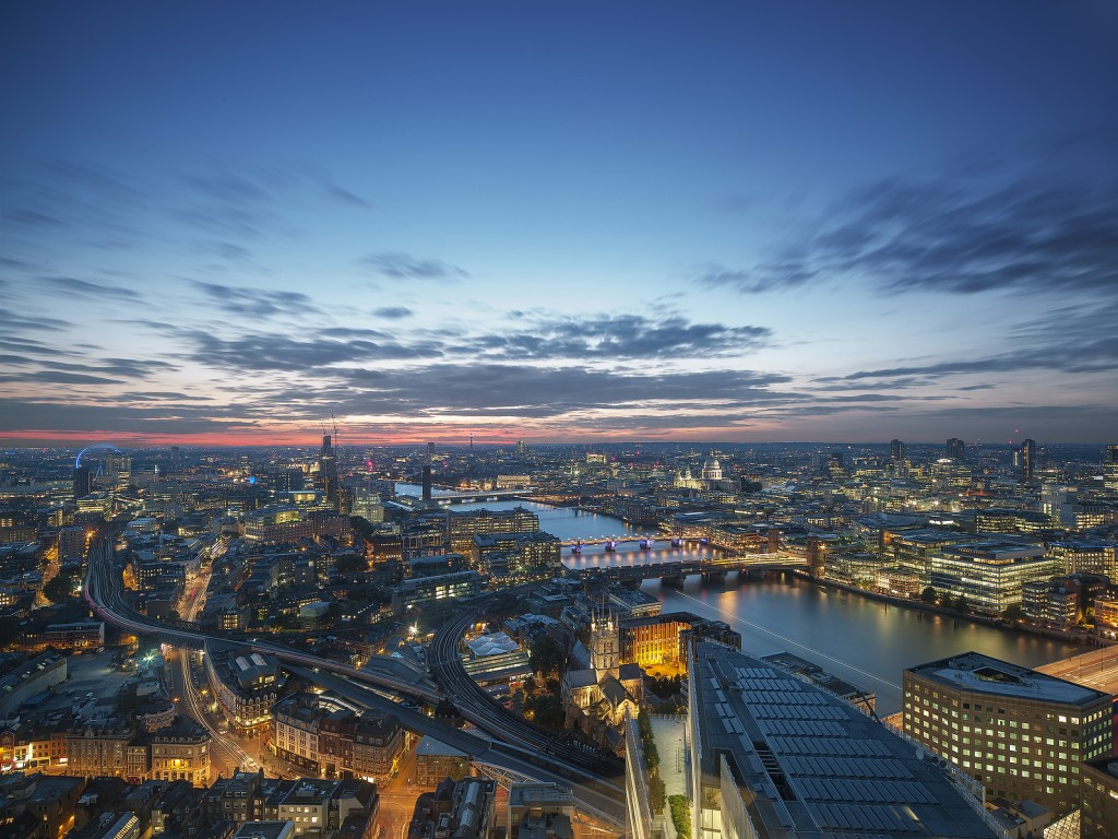 London Eye and St Paul's view by night - Shangri-La Hotel, At The Shard, London