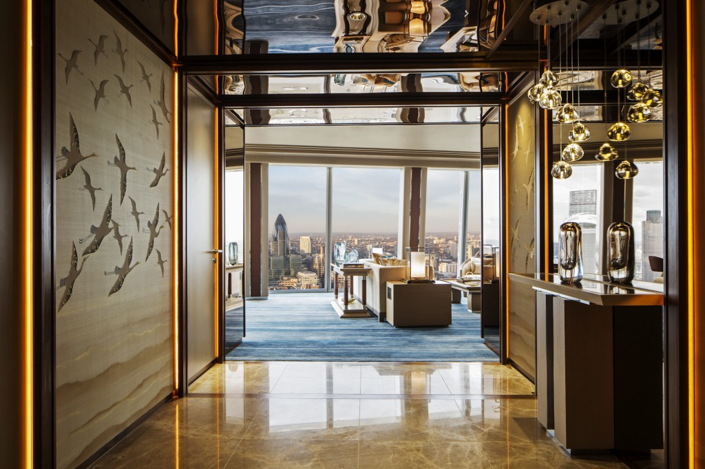 Westminster Suite entrance - Shangri-La Hotel, At The Shard, London