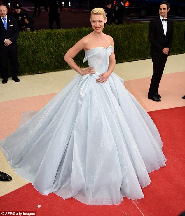 Claire Danes at the Met ball
